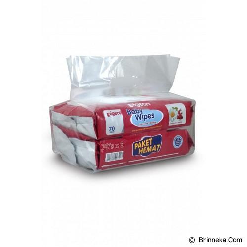 PIGEON Baby Wipes Chamomile 70'S 2 Pack [PR040405] - Baby Wipe / Tissue Basah